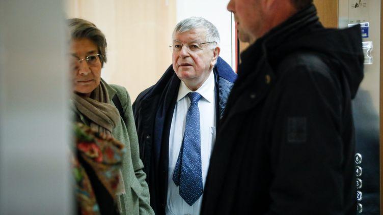 L'ex-PDG de France TélécomDidier Lombard arrive au tribunal de Paris, le 7 mai 2019. (THOMAS PADILLA / MAXPPP)