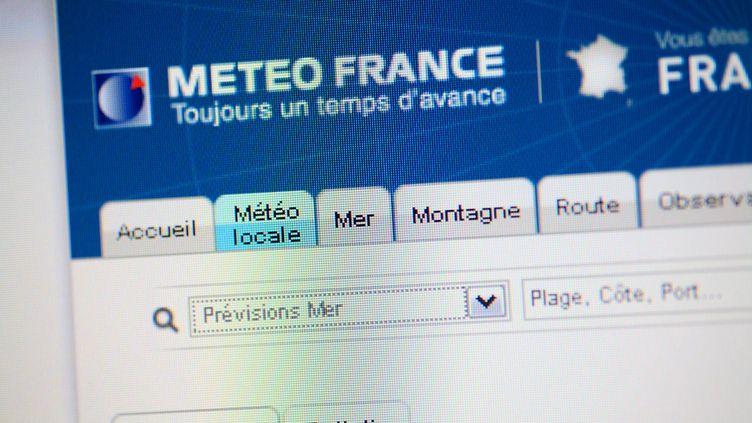 Capture d'écran du site internet de Météo France. (PHILIPPE TURPIN / MAXPPP)