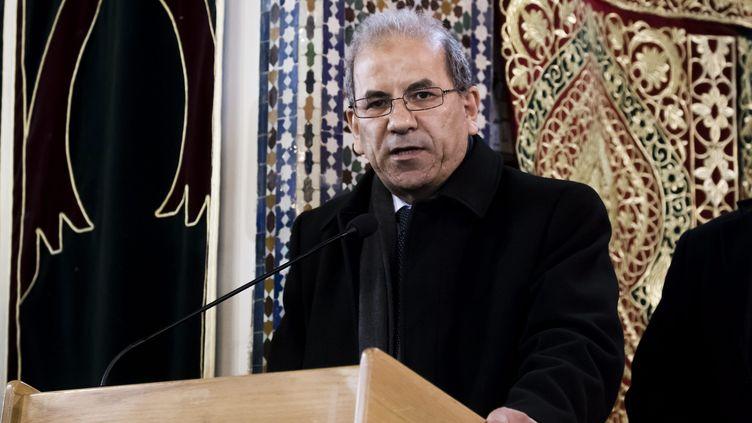 Mohammed Moussaoui à la grande mosquée de Paris le 22 mars 2019. (VINCENT ISORE / MAXPPP)