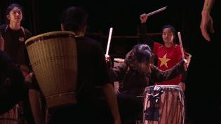 Scène du spectacle du Nouveau Cirque National du Vietnam  (France 3 Culturebox Capture d'écran)