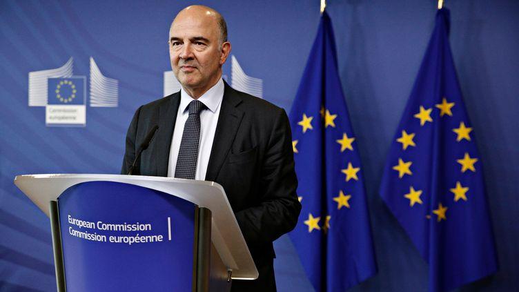 Le commissaire européen aux affaires économiques, Pierre Moscovici, à Bruxelles, le 12 juillet 2017. (ALEXANDROS MICHAILIDIS / SOOC / AFP)