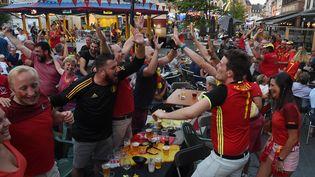 Ambiance à Poperinghe (Belgique) pendant le match Belgique-Bresil, le 06 juillet 2018. Image d'illustration. (MARC DEMEURE / MAXPPP)