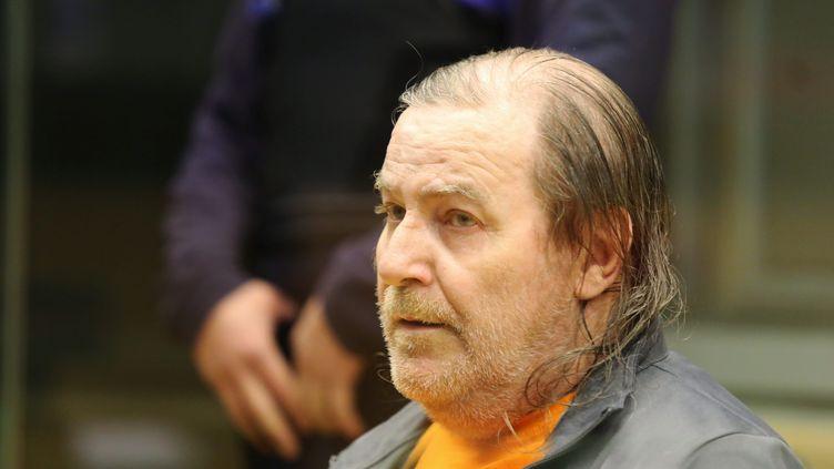 Jacques Rançon avant l'ouverture de son procès au tribunal de Perpignan (Pyrénées-Orientales), le 5 mars 2018. (MAXPPP)
