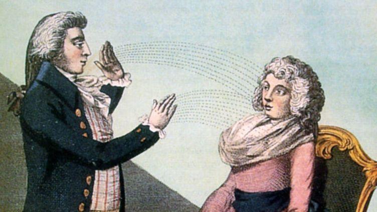 Franz Anton Mesmer hypnotisant une patiente, anonyme, circa 1790. (Beaux-Arts de Paris Editions - Musée d'arts de Nantes)