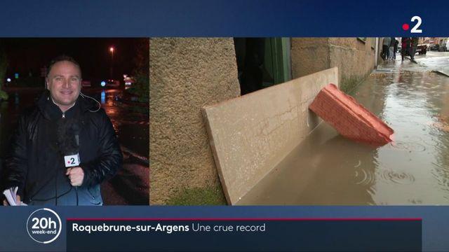 Intempéries : la commune de Roquebrune-sur-Argens cernée par les eaux