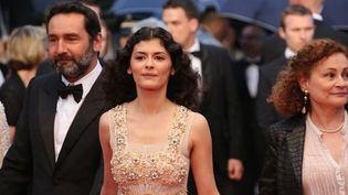 Audrey Tautou monte les marches de la cérémonie de clôture du 65e Festival de Cannes  (LOIC VENANCE/AFP)