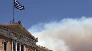 Le Parlement grec à Athènes (Grèce), le 17 juillet 2015. (ALKIS KONSTANTINIDIS / REUTERS)