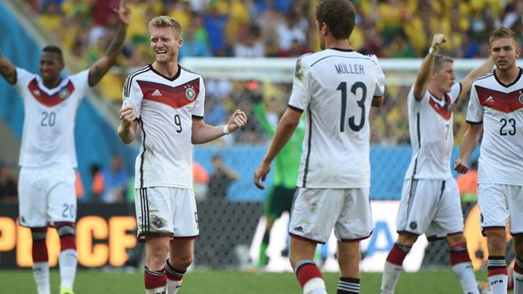 Boateng, Schürrle, Müller, Schweinsteiger et Kramer (PATRIK STOLLARZ / AFP)
