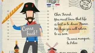 Une carte postale diffusée, vendredi 4 août, par Europol pour rechercher des criminels. (EUROPOL)