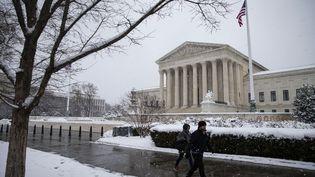 La Cour suprême des Etats-Unis à Washington, le 13 janvier 2019. (AL DRAGO / GETTY IMAGES NORTH AMERICA / AFP)