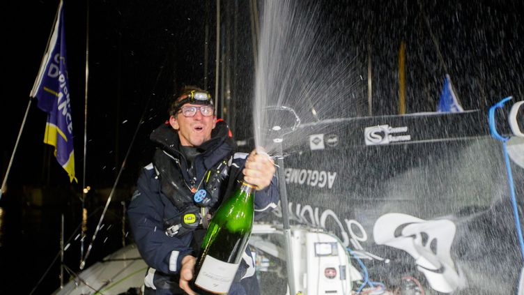 Xavier Macaire, première victoire dans la Solitaire du Figaro