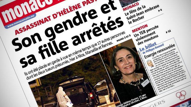 """La une du quotidien""""Monaco Matin"""",le 24 juin 2014. (MONACO MATIN)"""