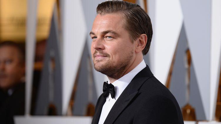 Leonardo DiCaprio le 28 février 2016 à Hollywood (Etats-Unis) pour la 88e cérémonie des Oscars. (FRAZER HARRISON / GETTY IMAGES NORTH AMERICA / AFP)