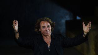 Le ténor français Roberto Alagna le 29 juillet 2015 à Orange. (BORIS HORVAT / AFP)