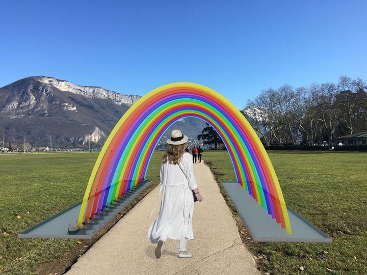 Wave of Rainbow d'Anaisa Franco aux Champs de mars (DR / Annecy Paysages)