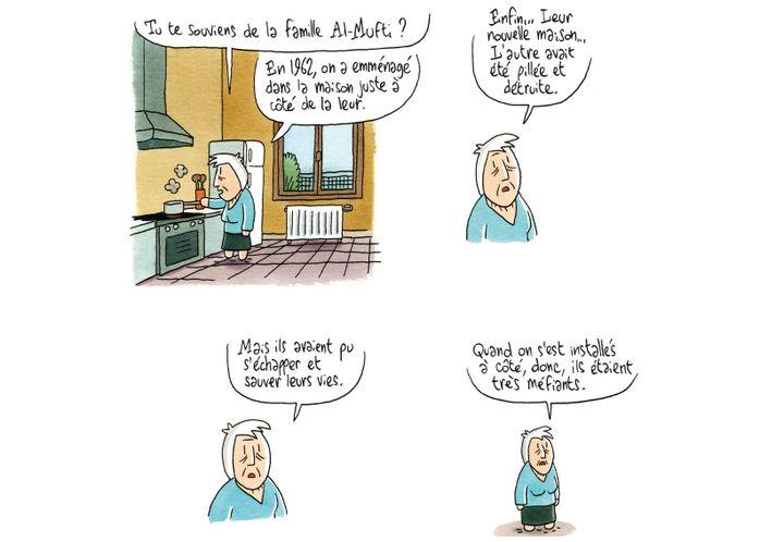 """""""Coquelicots d'Irak"""", détail page 49  (Brigitte Findakly - Lewis Trondheim)"""