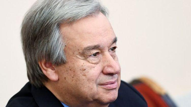 Le secrétaire général des Nations unies Antonio Guterres, le 1 juin 2017, en Russie (Evgeny Biyatov / Sputnik)