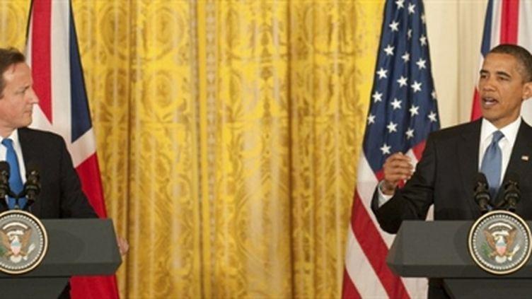 Le premier ministre britannique, David Cameron, avec Barack Obama, à la Maison Blanche, le 20/07/2010 (AFP/Rod Lamkey)