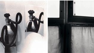 """Zbigniew Dłubak - A gauche, """"Tautologies"""", 1971 - A droite, photographie de la série """"Existences"""", 1959-1966  (Pour les deux images : Armelle Dłubak / Archeology of Photography Foundation, Varsovie)"""