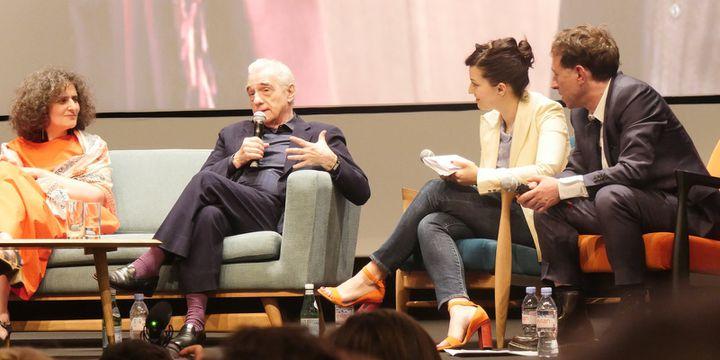 """""""Une conversation"""" avec Martin Scorsese à la Quinzaine.  (Lorenzo Ciavarini Azzi/Culturebox)"""