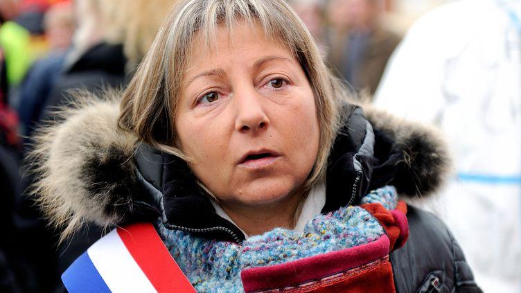 La maire (Les Républicains) de Calais, Natacha Bouchart, le 2 novembre 2013. (PHILIPPE HUGUEN / AFP)