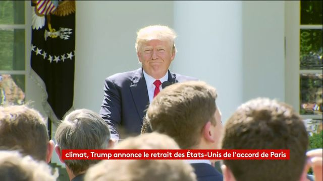REPLAY. Donald Trump annonce que les Etats-Unis se retirent de l'accord de Paris