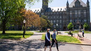 Le campus de l'université de Georgetown, à Washington (Etats-Unis), le 7 mai 2020. (SAUL LOEB / AFP)