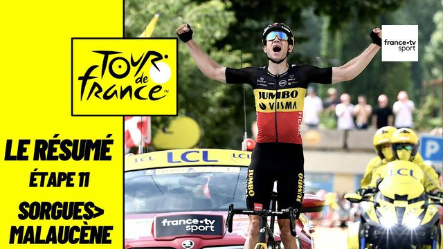 """Wout van Aert remporte en solitaire une étape de prestige ! Le Belge lève les bras à Malaucène après avoir franchi à deux reprises le Mont Ventoux. Dans le groupe des favoris, Jonas Vingegaard a distancé Tadej Pogacar avant d'être repris dans la descente du """"Mont Chauve"""" par le maillot jaune, accompagné par Rigoberto Uran et Richard Carapaz. Au classement général, Ben O'Connor perd sa place sur le podium."""