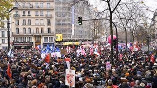 Manifestation contre la réforme des retraites dans les rues de Paris, le 5 décembre 2019. (REMI DECOSTER / HANS LUCAS / AFP)