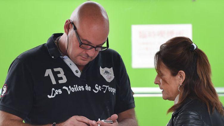 Les parents de Jules Bianchi, Philippe et Christine (TORU YAMANAKA / AFP)