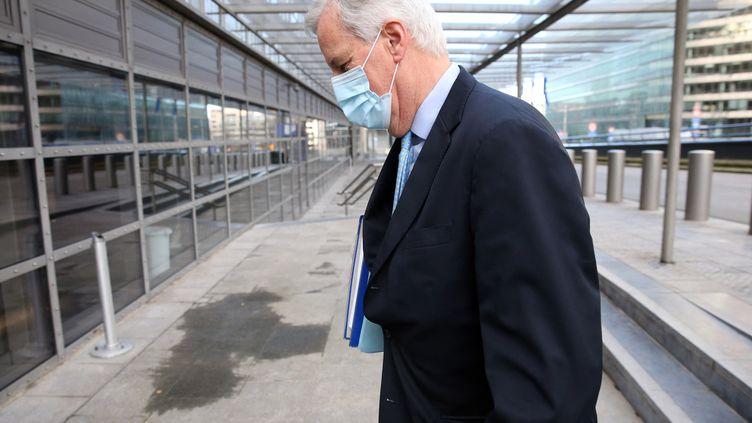 Michel Barnier au Conseil européen à Bruxelles, en décembre 2020. (FRANCOIS WALSCHAERTS / AFP)