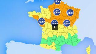 La tempête Freyatouchela France ce lundi 4 mars. 44 départements sont placés en vigilance orange en raison de violentes rafales de vent. (FRANCE 2)