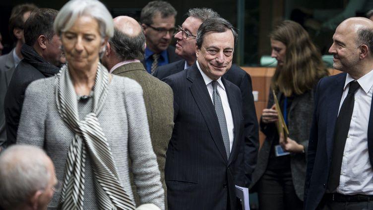 (Un accord a été trouvé vendredi soir  entre la zone euro et Athènes sur l'extension du programme de financement de la  Grèce © maxppp)
