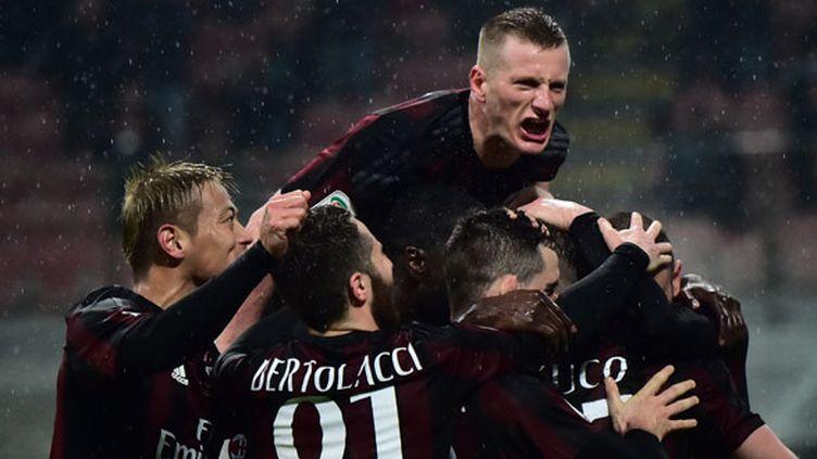 La joie des joueurs du Milan AC