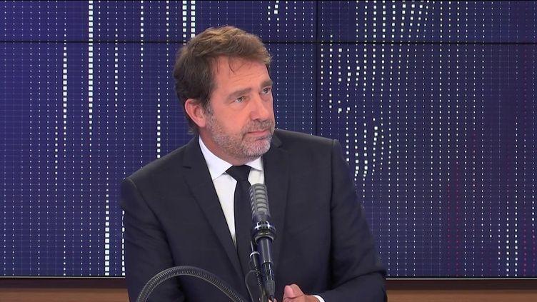 """Christophe Castaner, président du groupe LREM à l'Assemblée nationale,était l'invité du """"8h30franceinfo"""", lundi 21juin 2021. (FRANCEINFO / RADIO FRANCE)"""
