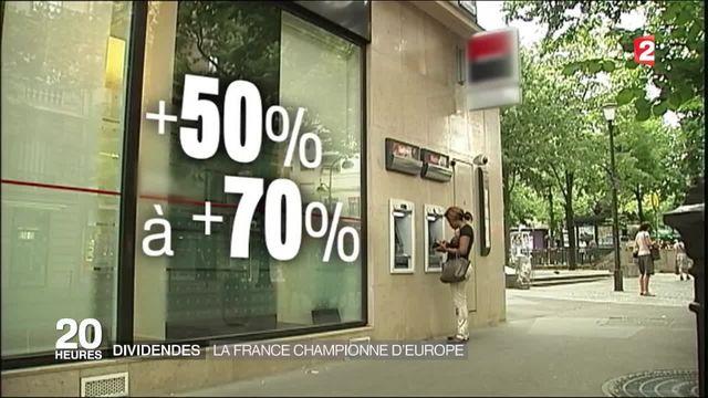 Dividendes : la France, championne d'Europe