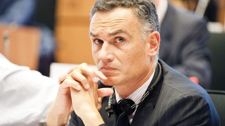 Arnaud Danjean, au Parlement européen, à Bruxelles, le 21 juillet 2009. (WIKTOR DABKOWSKI / MAXPPP)