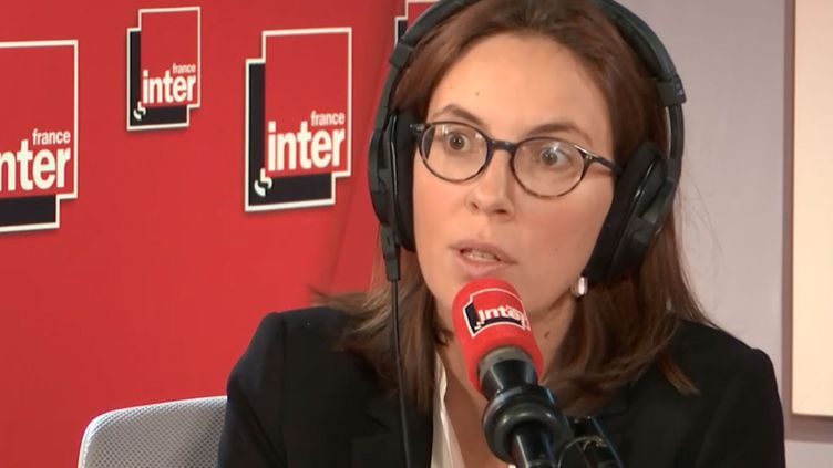 Améliede Montchalin était l'invitée de France Inter vendredi 11 octobre. (FRANCE INTER/RADIOFRANCE)
