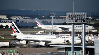 Air France a déjà subit des journées de grève les 22 février, 23 et 30 mars 2018. (Photo d'illustration) (ERIC FEFERBERG / AFP)
