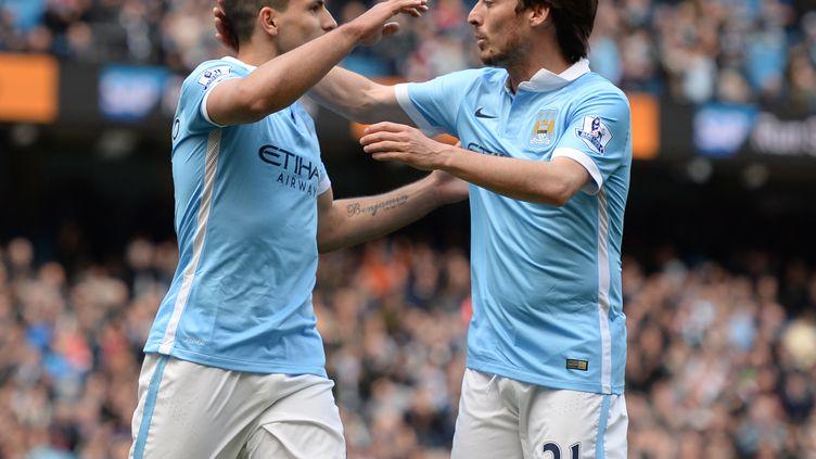 Sergio Agüero et David Silva (Manchester City)
