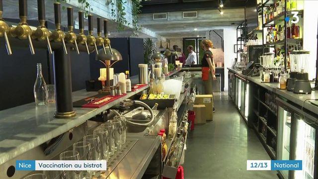 Nice : un centre de vaccination provisoire ouvre dans un bar