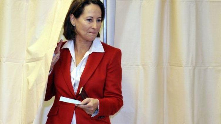 Ségolène Royal a voté dimanche à Melle (Deux-Sèvres) (PIERRE ANDRIEU / AFP)