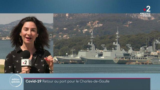"""Coronavirus : le porte-avions """"Charles-de-Gaulle"""" de retour au port de Toulon"""