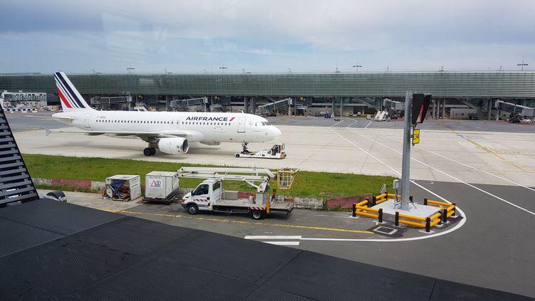 Un avion Air France à l'aéroport Roissy-Charles-De-Gaulle (BENJAMIN FONTAINE / FRANCE-BLEU ARMORIQUE)