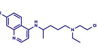 La molécule de l'hydroxychloroquine dont l'efficacité est controversée dans le traitement du Covid-19. (MOLEKUUL/SCIENCE PHOTO LIBRARY / PVV)