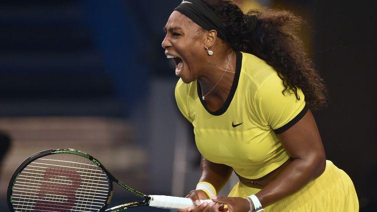 Serena Williams, un pas de plus vers l'histoire.  (SAEED KHAN / AFP)
