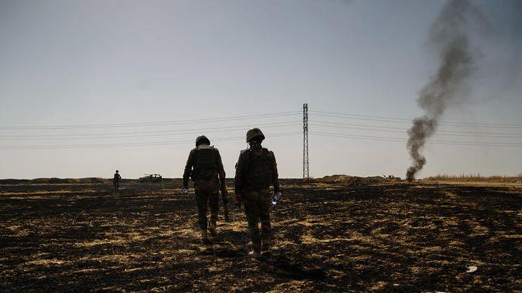 (Depuis le 25 juin, Qaraqosh était protégée par les Kurdes  © MAXPPP)