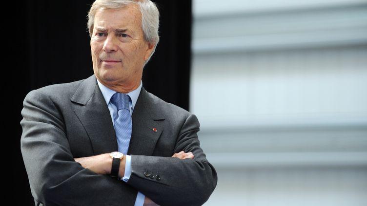 Vincent Bolloré, le président du conseil de surveillance de Vivendi, le 16 janvier 2015. (FRED TANNEAU / AFP)