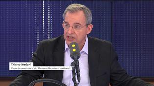 Thierry Mariani invité sur franceinfo le samedi 15 février 2020. (FRANCEINFO)