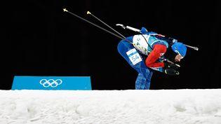 Le Français Martin Fourcade lors du sprint hommes, le 11 février à Peyongchang (Corée du Sud). (ODD ANDERSEN / AFP)